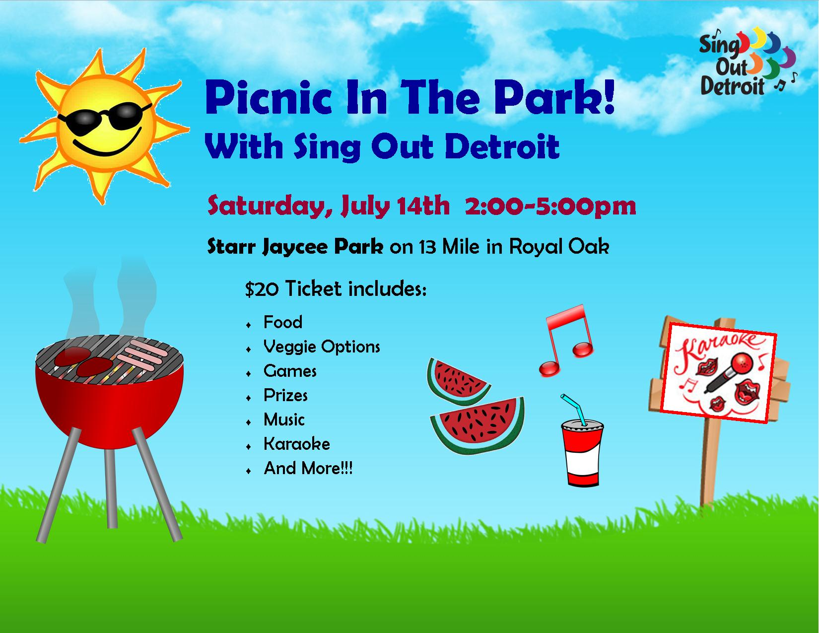 Picnic In The Park! With Sing Out Detroit – Sing Out Detroit